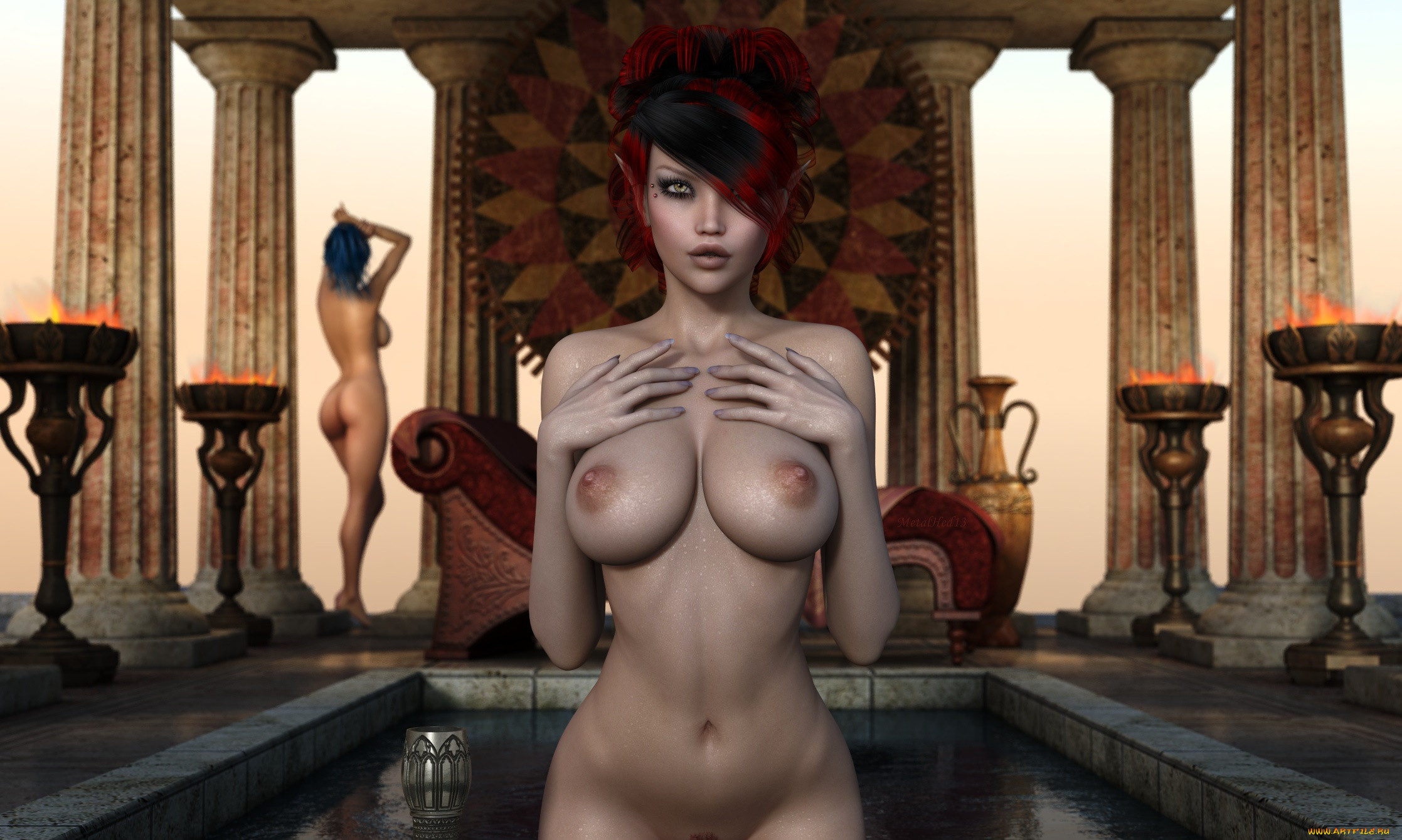 3d redhead elf porn naked photo